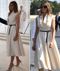 Hawaii Travel Dresses images Donald trump asia tour melania trump stuns in chic white dress in jpg