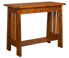 Tall Writing Desk by Amish Bridger Mission Four Drawers Desk With Finished Backside