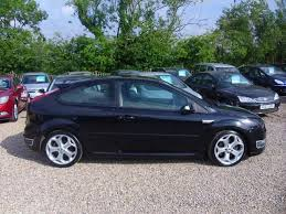 used ford focus st3 used ford focus car 2007 black petrol 2 5 st 3 3 door with