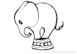 coloring pages free elephant coloring pages