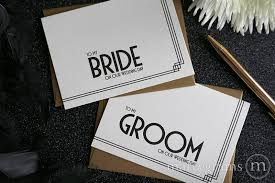 To My Bride On Our Wedding Day Card To My Bride Or Groom Wedding Day Card Deco Style