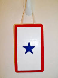 Red White Flag With Blue Star Hand Painted Blue Star Deployment Flag Wooden Sign 10 00 Via