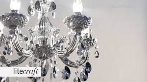 Silver Chandelier by Marie Therese 5 Light Silver Chandelier Litecraft Lighting