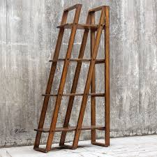 Etagere Wood Amazon Com Elegant Library Ladder Antique Style Etagere Folding