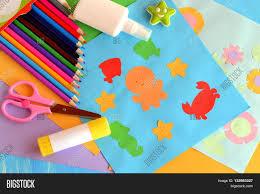 paper sea animals flowers crafts image u0026 photo bigstock
