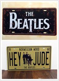 home bar wall decor 2017 the beatles hey jude metal tin sign license plate man cave