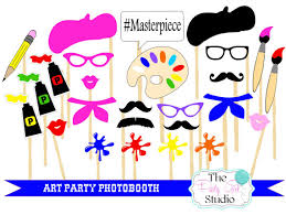 photo booth party props 26pc party photobooth props artist party paint party