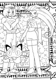 team rocket coloring pages