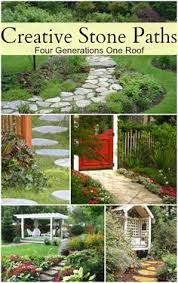 Backyard Garden Ideas Photos How To Make A Path Of Building For A Stone Path Stone Paths