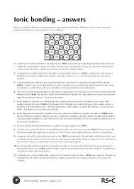chemical bonding worksheet answers worksheets releaseboard free