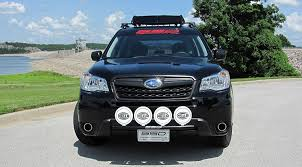 subaru outback custom bumper amazon com fits 2014 2017 subaru forester 2 5 rally light bar