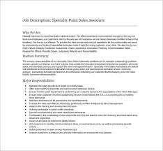 Sales Associate Resume Job Description by 9 Sales Associate Job Description Templates U2013 Free Sample
