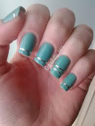 blue u0026 metallic stripes nail art by sera knott nailpolis museum