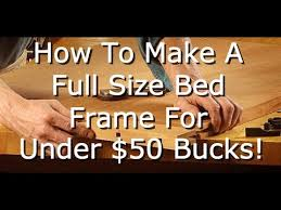 homestead furniture how to build a full size bed frame for under