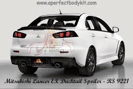 kereta mitsubishi evo sport mitsubishi lancer ex rear ducktail spoiler available in carbon