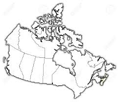 Canada Us Map by Political Map Of Canada With The Several Provinces Where Nova