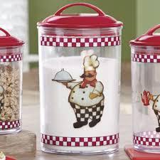 Chef Kitchen Decor Accessories 3 Piece Bon Appetit Chef Canister Set Dishes U0026 Such Pinterest