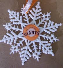 san francisco giants baseball handcrafted snowflake by zzsteamtime