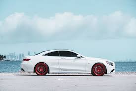 car mercedes red white beast gets red shoes mercedes benz s63 amg with adv 1