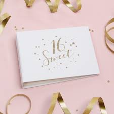 sweet 16 photo albums sweet 16 party guestbook white with gold glitter foil lettering