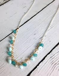 gold filled necklace images Handmade sterling silver and gold filled necklace with larimar jpg