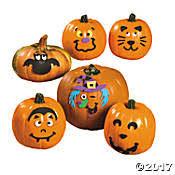 Save on Foam Pumpkin Decorating Kits