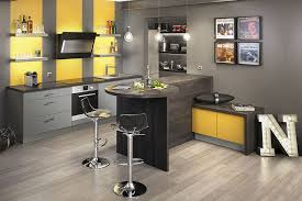 cuisine gris et decoration cuisine gris et jaune autre que j adore