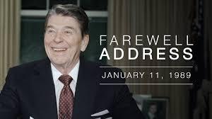president reagan u0027s farewell address to the nation u2014 1 11 89 youtube