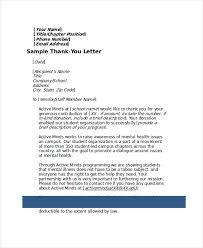 donation thank you letter 4 donation thank you letter sample 4