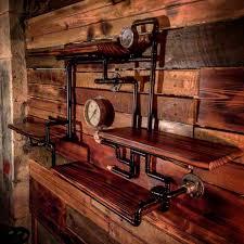 Multilook Laminate Flooring Retro Industrial Rustic Hardwood Shelves Steampunk Wall Art
