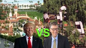 donald trump house inside and outside vs bill gates house inside