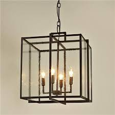 black lantern pendant light double cube frame lantern modern pendant lighting shades of