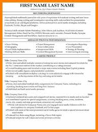 Sample Journalism Resume by 5 Journalist Resumes Acknowledge Form