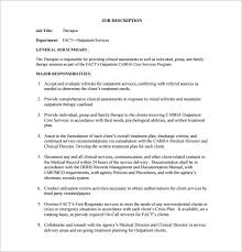 Counseling Assessment Forms Sles Pdf Physical Therapist Description Template 9 Free Word Pdf