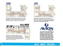 5th Wheel Camper Floor Plans by Avion Travelcade Club Travel Former Member Fifth Wheel Fleetwood