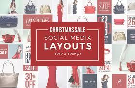 christmas sale christmas sale social media layouts medialoot