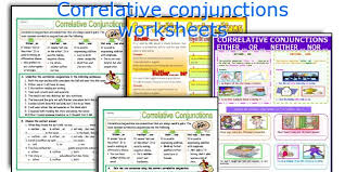 english teaching worksheets correlative conjunctions