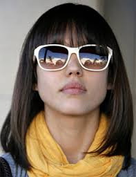 blunt fringe hairstyles popular medium length haircuts with bangs and layers hair world
