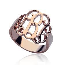gold monogram ring gold monogram ring