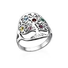family birthstone rings family tree mothers jewelry swarovski birthstone