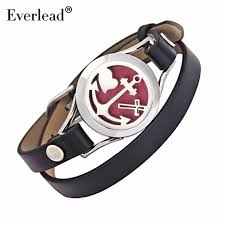 anchor wrap bracelet images Everlead genuine leather bracelets aromatherapy perfume diffuser jpg