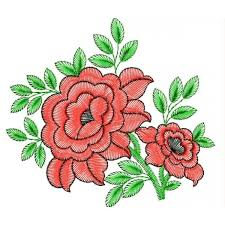 design embroidery red rose embroidery design