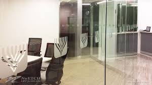 safety decals for glass doors distraction markers on glass panels and doors in commercial space