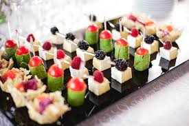 canapes finger food mixed fingerfood canapes on appetizer table stock photo fesenko