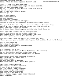 hanukkah song lyrics talkinggames