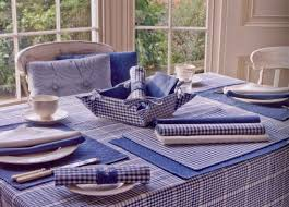 auberge gingham country check range of seat pads tablecloths