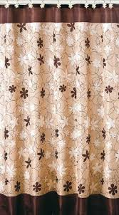 ruffled double swag shower curtain with valance u0026 tie backs