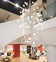 Modern Large Chandelier Led Jogg Twisted Chandelier For Large Spaces Modern Entry