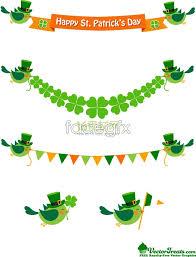 bird and the four leaf clover ornament vector millions