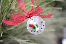 hand stamped christmas ornament crazy little projects